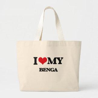 Amo mi BENGA Bolsa Tela Grande