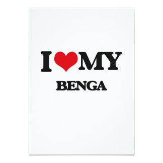 """Amo mi BENGA Invitación 5"""" X 7"""""""