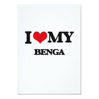 """Amo mi BENGA Invitación 3.5"""" X 5"""""""