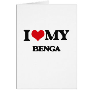 Amo mi BENGA Tarjeta De Felicitación