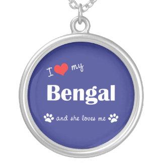 Amo mi Bengala el gato femenino Joyerias Personalizadas