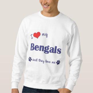 Amo mi Bengals (los gatos múltiples) Sudaderas Encapuchadas