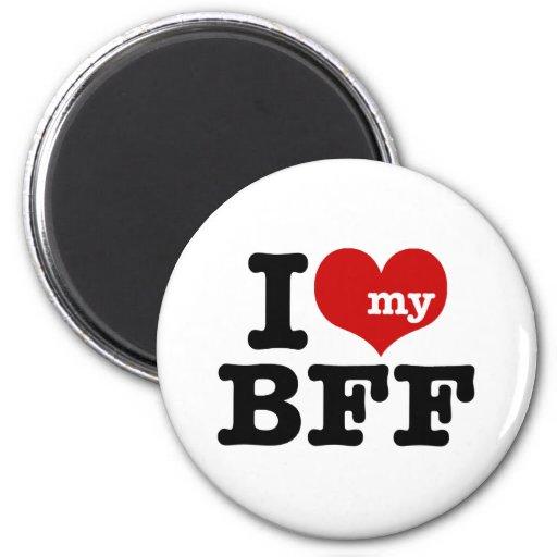 Amo mi BFF Imán Redondo 5 Cm