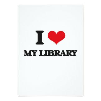 Amo mi biblioteca invitación 12,7 x 17,8 cm