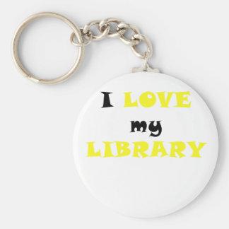 Amo mi biblioteca llavero personalizado