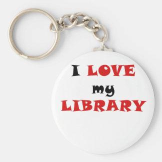 Amo mi biblioteca llavero