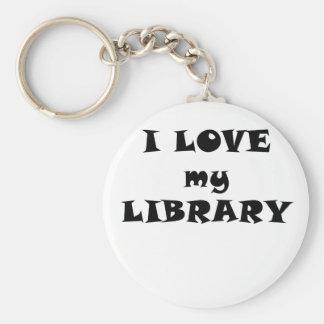 Amo mi biblioteca llaveros personalizados
