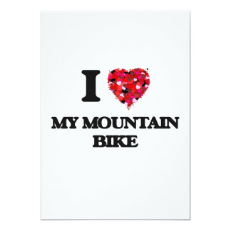 "Amo mi bici de montaña invitación 5"" x 7"""