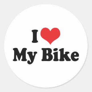 Amo mi bici etiqueta