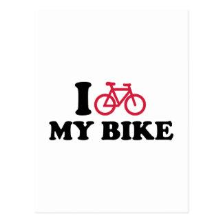Amo mi bicicleta de la bici tarjeta postal