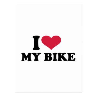 Amo mi bicicleta de la bici postales