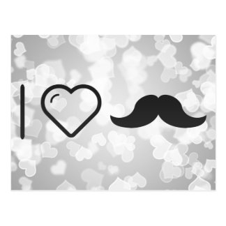 Amo mi bigote postales