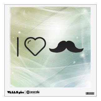 Amo mi bigote vinilo adhesivo