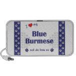 Amo mi birmano azul (el gato femenino) laptop altavoces