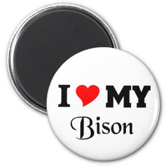 Amo mi bisonte imán redondo 5 cm