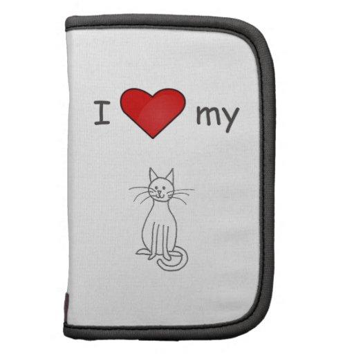 Amo mi blanco del gato planificador