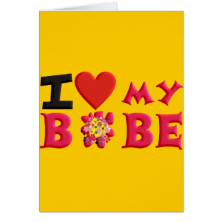 Amo mi Bobe Tarjeta De Felicitación