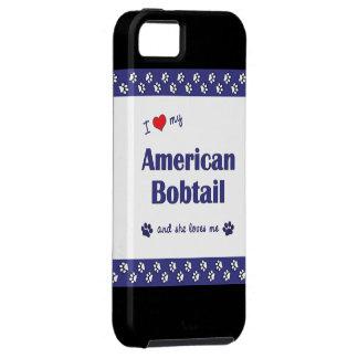 Amo mi Bobtail americano (el gato femenino) iPhone 5 Protector