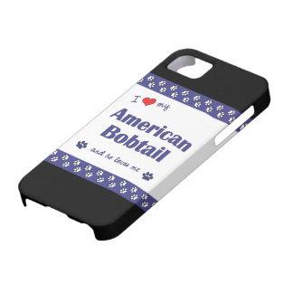 Amo mi Bobtail americano (el gato masculino) iPhone 5 Protector