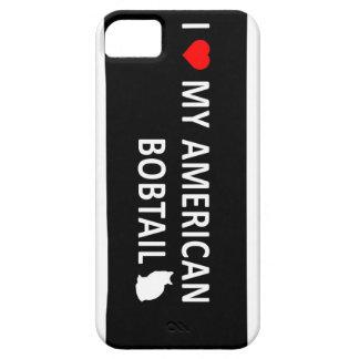 Amo mi Bobtail americano iPhone 5 Case-Mate Coberturas
