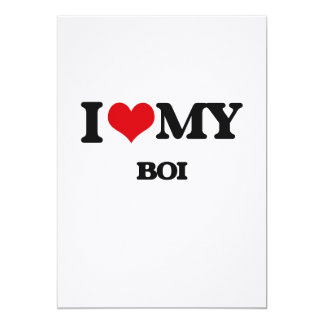 "Amo mi BOI Invitación 5"" X 7"""