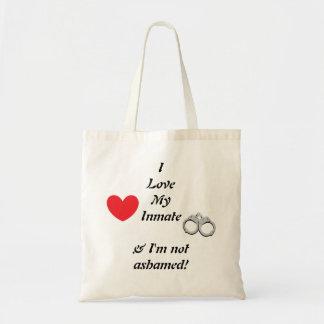 Amo mi bolso de tote del interno bolsas de mano