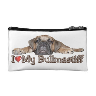 Amo mi bolso del cosmético de Bullmastiff