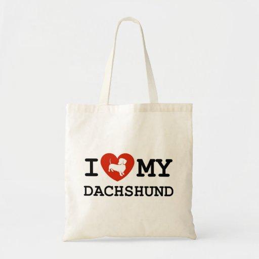 amo mi bolso del dachshund bolsas