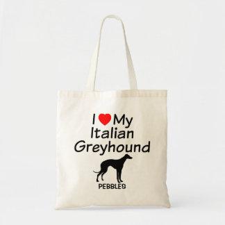 Amo mi bolso del perro del galgo italiano