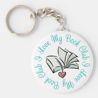 Amo mi Bookclub Llavero Redondo Tipo Pin