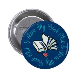 Amo mi Bookclub Pin Redondo De 2 Pulgadas
