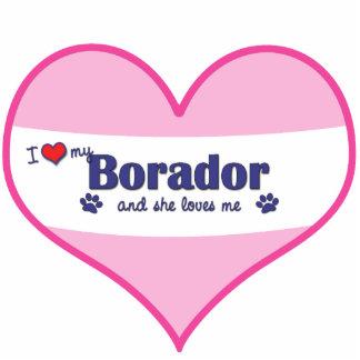 Amo mi Borador (el perro femenino) Adorno Fotoescultura