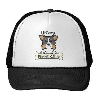 Amo mi border collie gorras de camionero