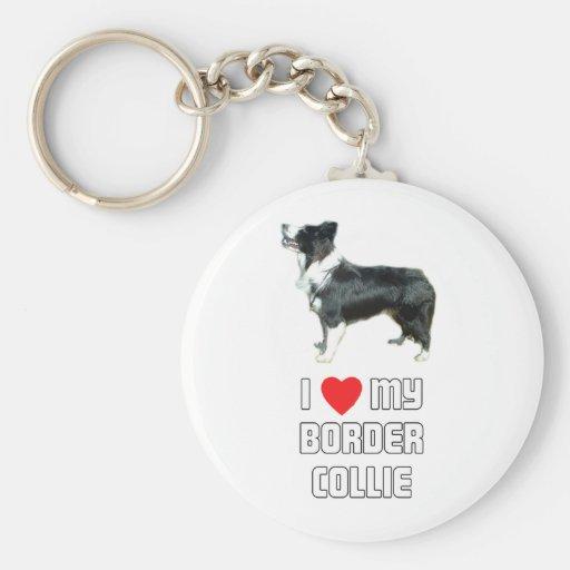 Amo mi border collie llavero personalizado