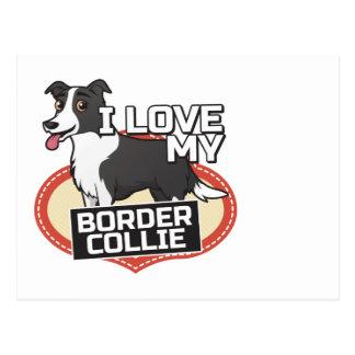 Amo mi border collie postales