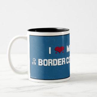 Amo mi border collie taza dos tonos