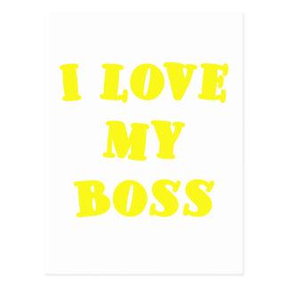 Amo mi Boss Tarjeta Postal