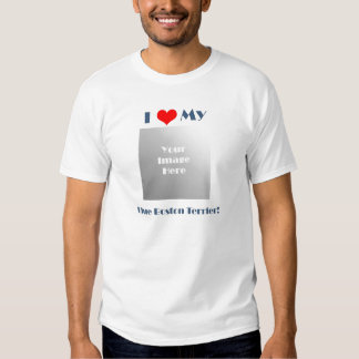 Amo mi Boston azul Terrier - la camiseta de los Camisas