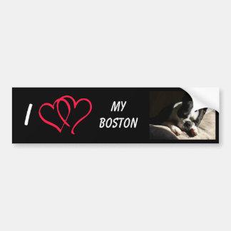 Amo mi Boston Pegatina Para Auto