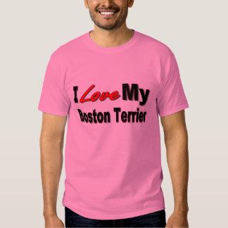 Amo mi Boston Terrier Camisas