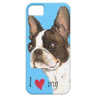 Amo mi Boston Terrier iPhone 5 Carcasa