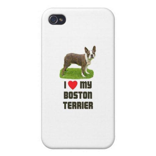 Amo mi Boston Terrier iPhone 4 Protector