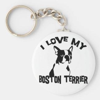 Amo mi Boston Terrier Llavero Personalizado