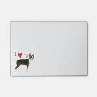 Amo mi Boston Terrier Nota Post-it®