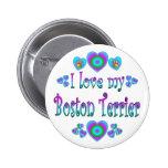 Amo mi Boston Terrier Pins