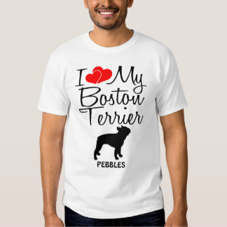 Amo mi Boston Terrier Playera