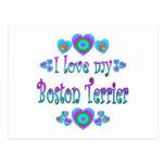 Amo mi Boston Terrier Postal