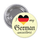 Amo mi botón alemán de los antepasados pin