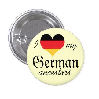 Amo mi botón alemán de los antepasados pin redondo de 1 pulgada