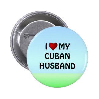 AMO MI botón CUBANO del pinback del MARIDO Pins